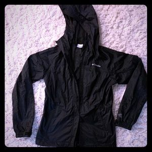 Columbia lightweight wind breaker black jacket